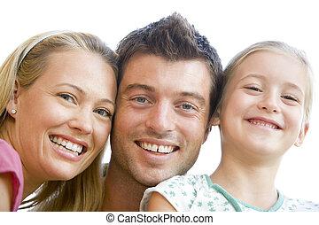 smil, familie, sammen