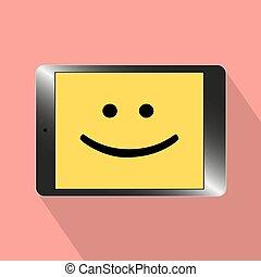 smil, illustration computer, tablet