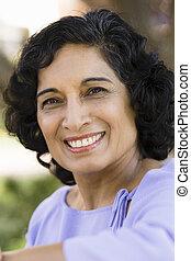 smil, indisk, kvinde