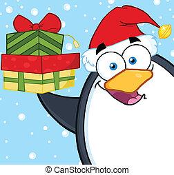 smil, karakter, cartoon, pingvin
