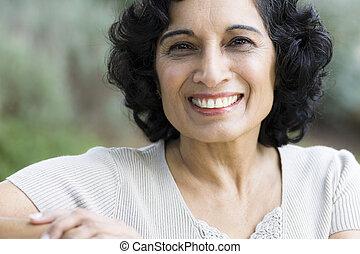 smil, middle-age, kvinde