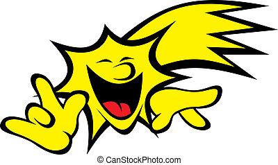 (smile, étoile, set), jaune