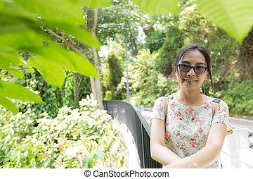Smile asian portrait woman.