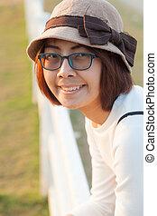 Smile asian woman.