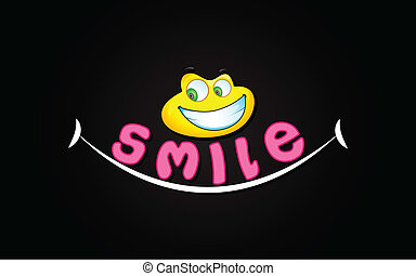 Smile Background - illustration of smile expression with...