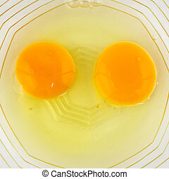 smile break egg in cup