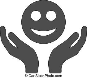 Smile Care Hands Flat Icon