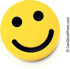 smile., concept., 현대, 황색, 웃음, 우정, 행복하다