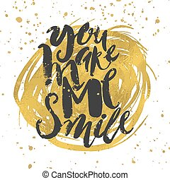 Smile concept inspirational phrase.Smiles are always in...