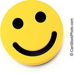 smile., concept., moderno, giallo, ridere, amicizia, felice