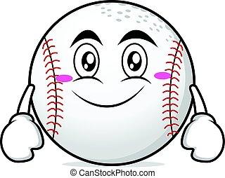 Smile face baseball cartoon character