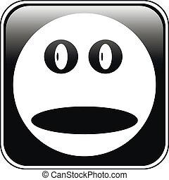 Smile face button