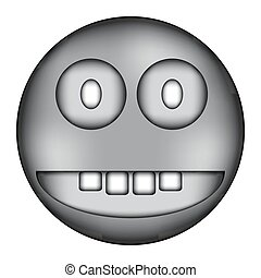 Smile face circle sign icon.