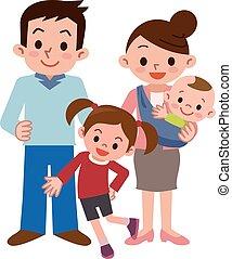 smile, familie, glade