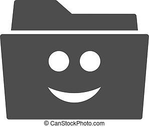 Smile Folder Flat Icon
