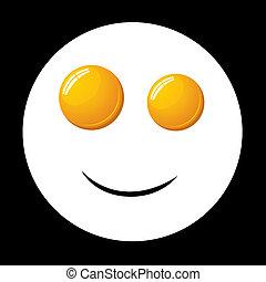 smile fried egg - vector smile fried egg