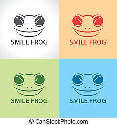 Smile frog symbol icon