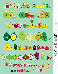 Smile Fruits - Cute Smile Cartoon of Various Fruits ...