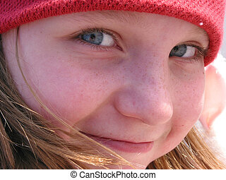 Smile girl portrait - Portrait of a smiling cute girl in a...