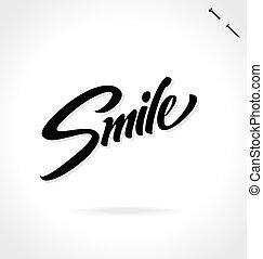 SMILE hand lettering (vector) - SMILE hand lettering --...
