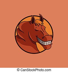 smile horse illustration vector design.