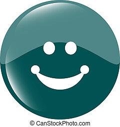 Smile icon glossy button