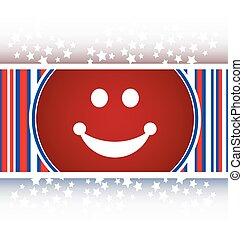 Smile icon glossy button vector