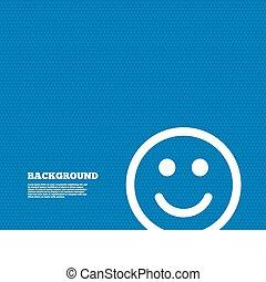 Smile icon. Happy face symbol.