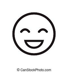 Smile Icon, stock vector illustration flat design