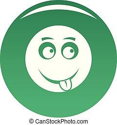Smile icon vector green