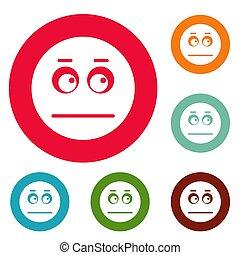 Smile icons circle set