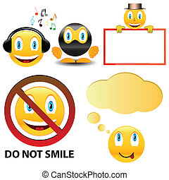 Smile icons set