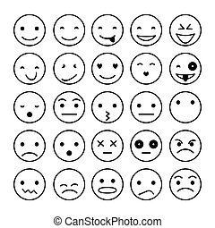 Smile icons vector illustration isolated on white background