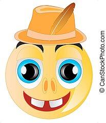 Smile in hat
