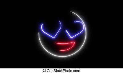 Smile in love emoticon video animation - Smile in love...