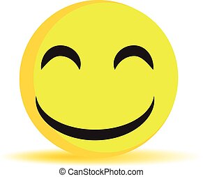 smile, laughing face vector isolated symbol sign icon emoticon