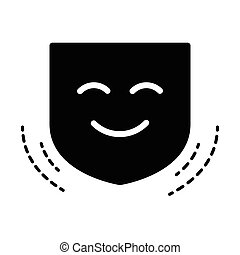 Smile mask,vector  black color