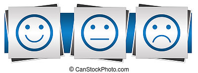 Smile Neutral Sad Faces Blue Grey - Smile sad neutral...