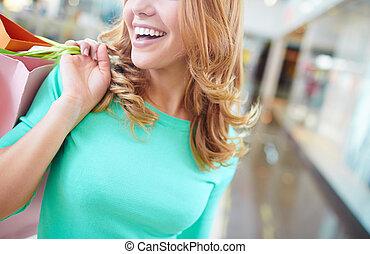 Smile of shopper