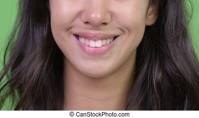 Smile of young beautiful multi-ethnic woman