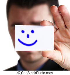 smile on business card