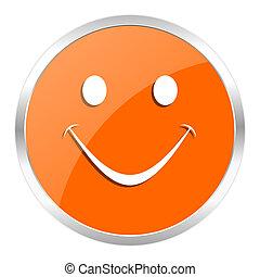 smile orange glossy icon