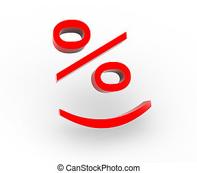Smile percent - 3 D a picture with the image of smile...