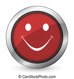 smile red icon