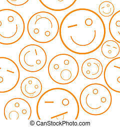 Smile seamless pattern