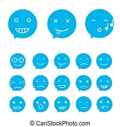 Smile set, vector