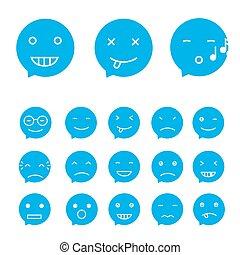 Smile set, vector