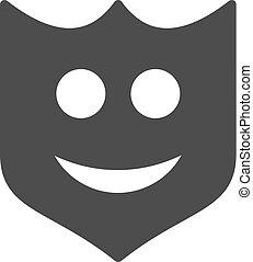 Smile Shield Flat Icon