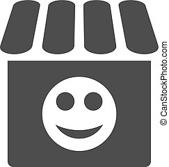 Smile Shop Flat Icon