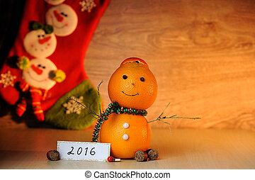 Snowman from orange